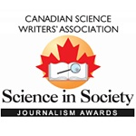 Canadian Science Writers Association award logo