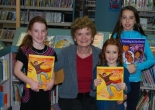 Anne Patton and friends after reading for Bookworm's Corner at George Bothwell Library in Regina