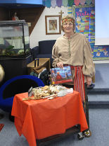 Myrna Guymer at a school reading