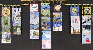 Canadian Shield Alphabet quilt