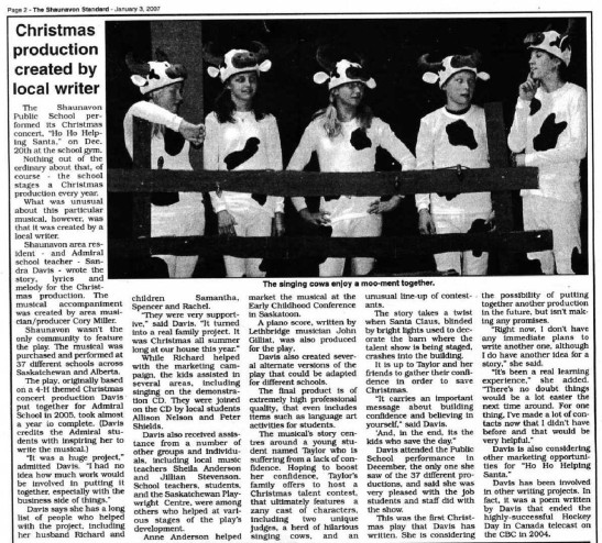 Ho-Ho-Helping Santa Newspaper Review