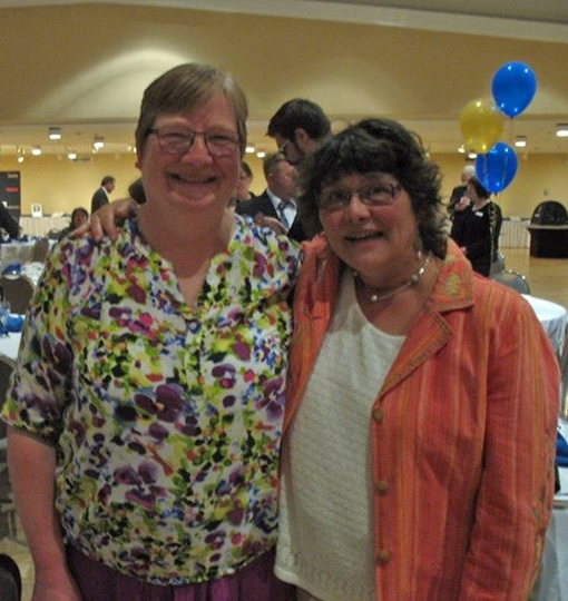 Dianne Young and Alison Lohans, shortlisted for the 2014 Saskatchewan Book Awards