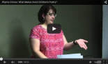 Paula Jane Remlinger gives a talk on Children's Poetry