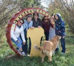 Alison, Anne, Paula Jane, Sharon, Linda at Iron Wheel Farms, Shaunavon, 2014