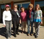 Linda, Myrna, Alison, Anne, Sharon at St. Michael's Retreat in Lumsden