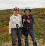 Linda and Anne at Wascana Trails, 2015