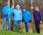 Ladies in Blue (and purple) - Anne, Gillian, Alison, Sharon