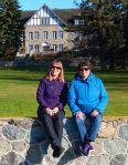 Sharon and Alison behind Kenosee Lodge, 2016