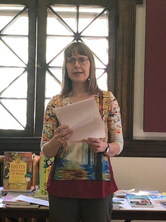 Sharon reading from Morwaka's Dreams